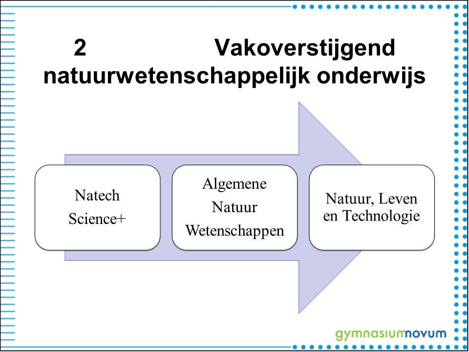 2Vakoverstijgend natuurwetenschappelijk onderwijs Natech Science+ Algemene Natuur Wetenschappen Natuur, Leven en Technologie