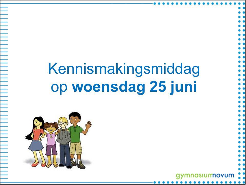 Kennismakingsmiddag op woensdag 25 juni