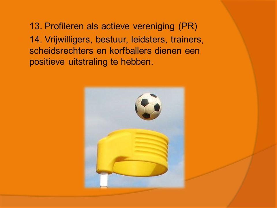  13.Profileren als actieve vereniging (PR)  14.