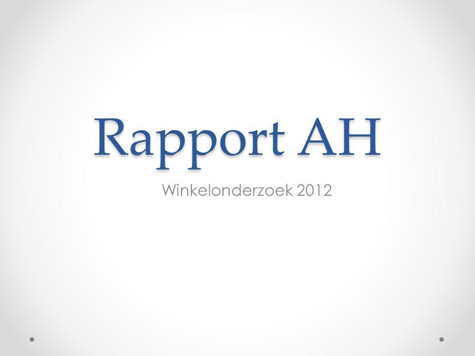 Rapport AH Winkelonderzoek 2012