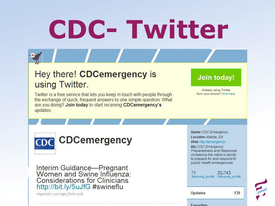 CDC- Twitter