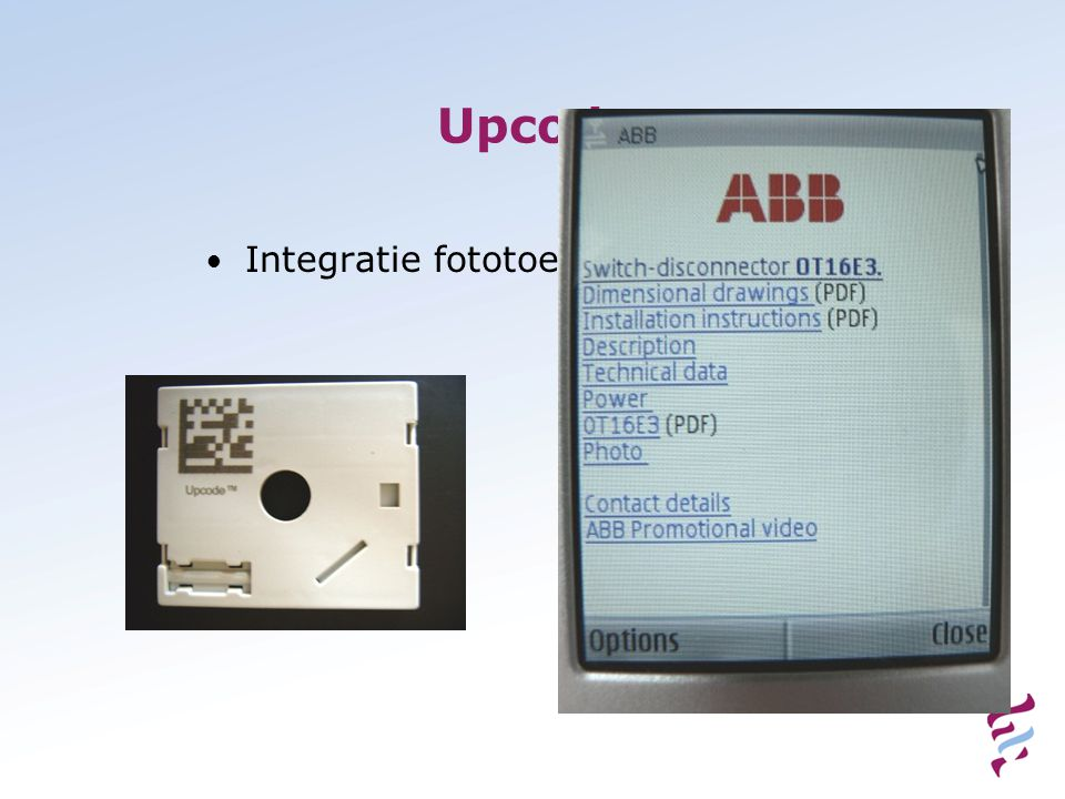 Upcode • Integratie fototoestel met internet