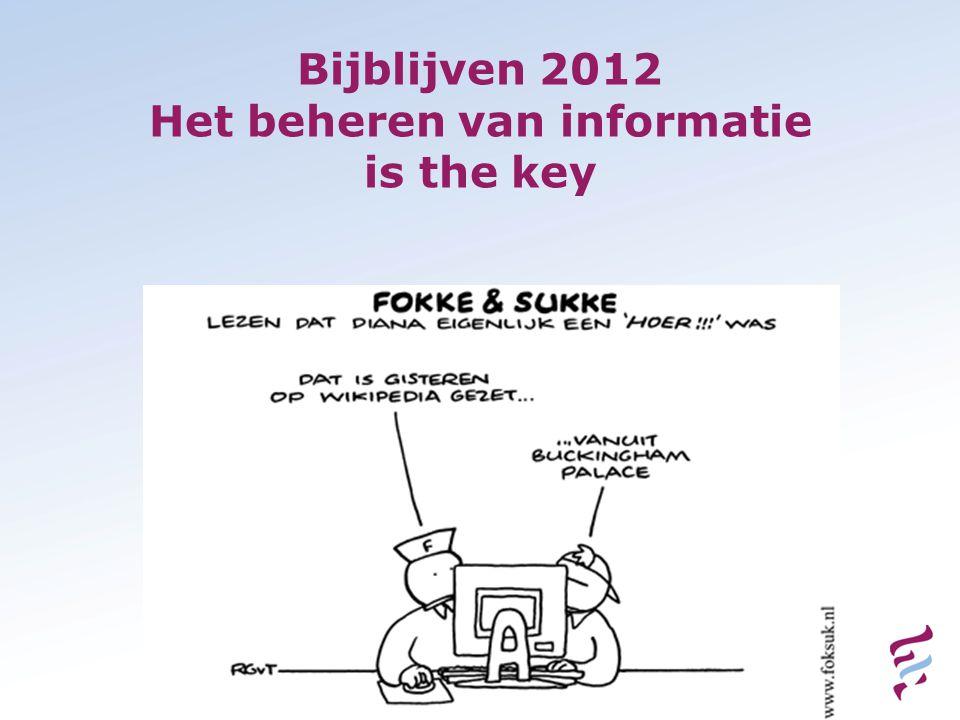 Bijblijven 2012 Het beheren van informatie is the key