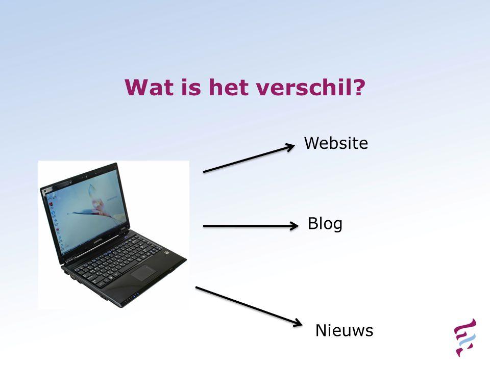 Wat is het verschil Website Blog Nieuws