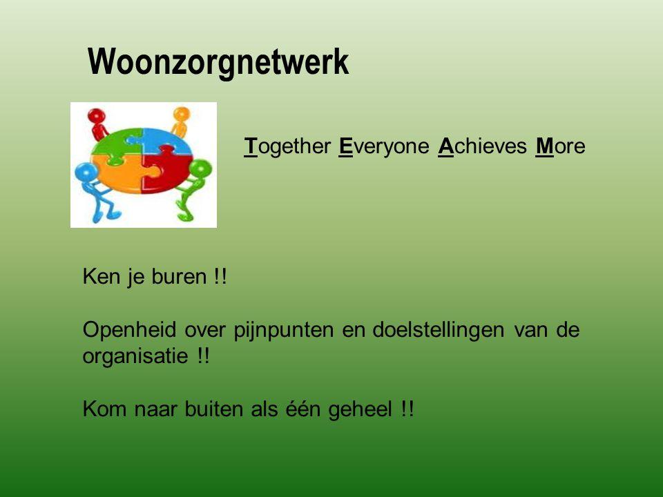 Woonzorgnetwerk Together Everyone Achieves More Ken je buren !.