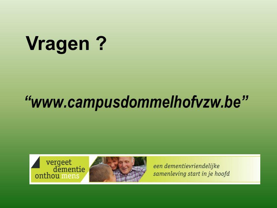 www.campusdommelhofvzw.be Vragen ?
