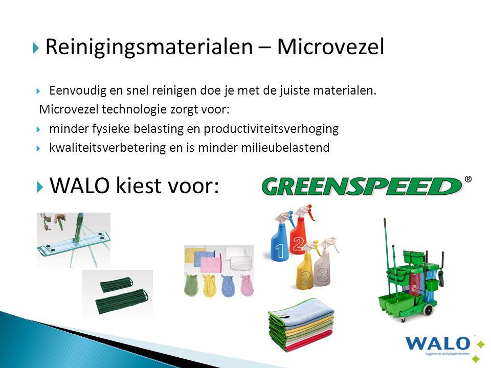  Reinigingsmaterialen – Microvezel  Eenvoudig en snel reinigen doe je met de juiste materialen.