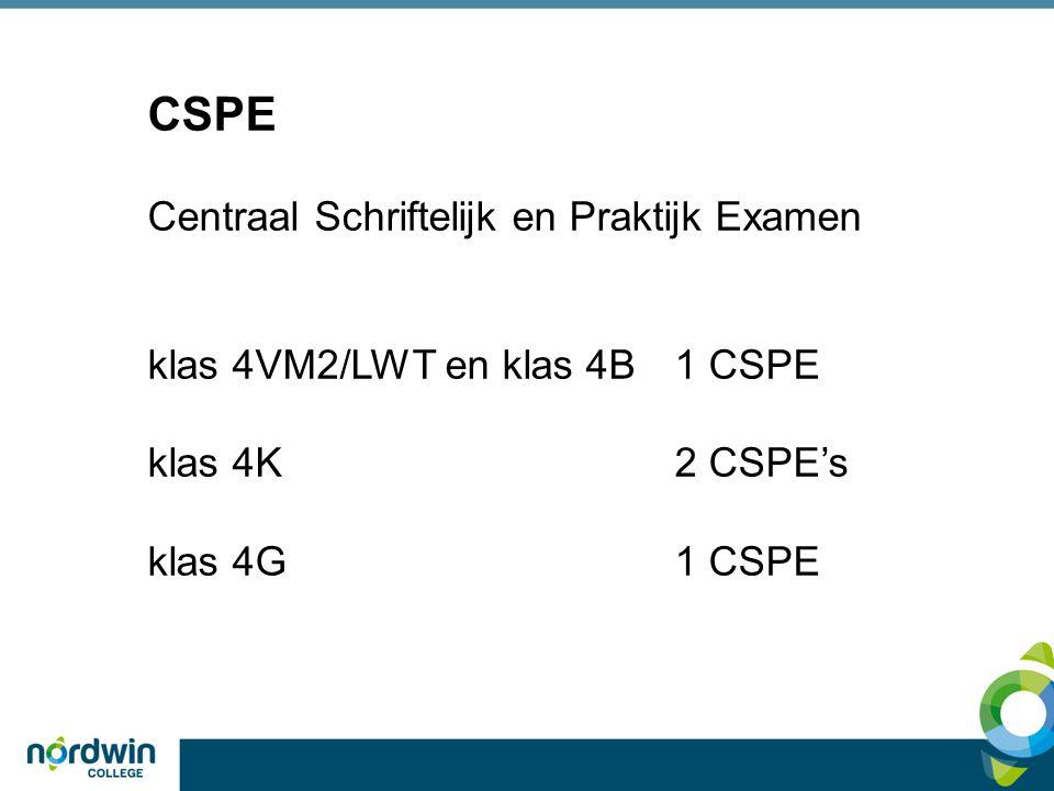 CSPE Centraal Schriftelijk en Praktijk Examen klas 4VM2/LWT en klas 4B1 CSPE klas 4K2 CSPE's klas 4G1 CSPE