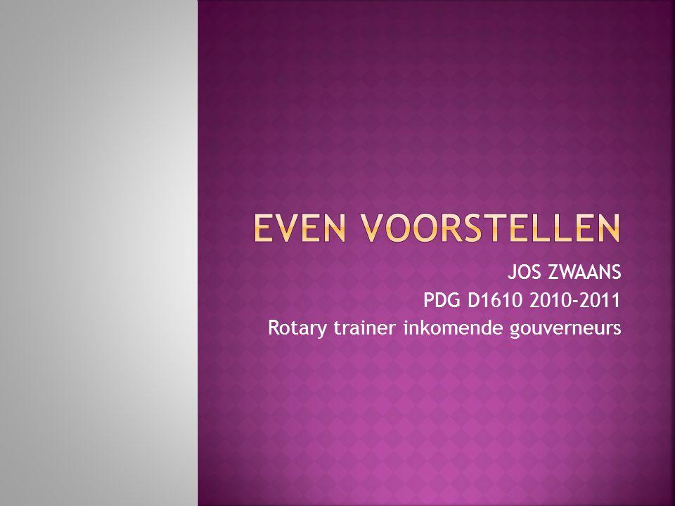 JOS ZWAANS PDG D1610 2010-2011 Rotary trainer inkomende gouverneurs