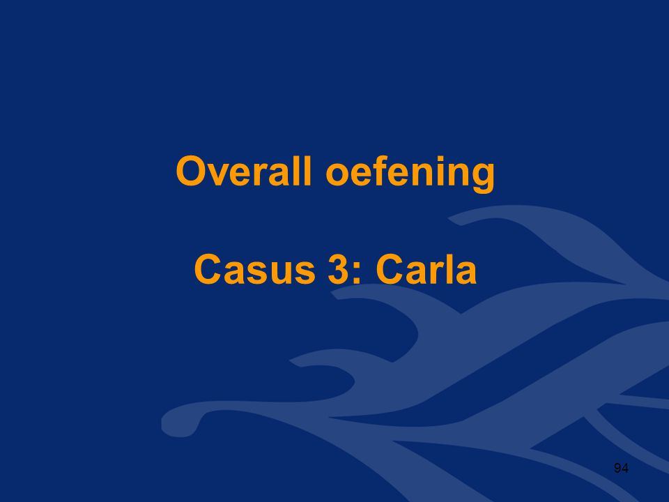 Overall oefening Casus 3: Carla 94