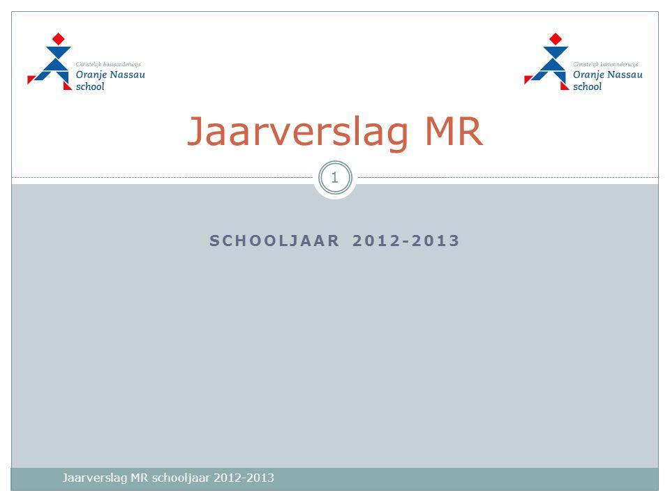 SCHOOLJAAR 2012-2013 Jaarverslag MR 1 Jaarverslag MR schooljaar 2012-2013