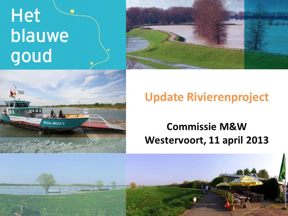 Aanleiding • Toegenomen aandacht recreatie en toerisme • Rivieren een verborgen parel van de regio • Pendelboot tussen Arnhem-Nijmegen en Arnhem-Deventer haalbaar • Kansen voor ondernemers langs de rivieren legio