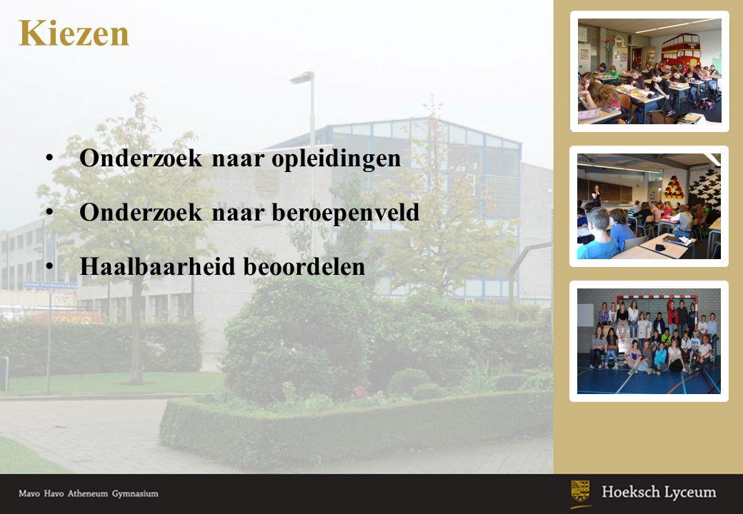 •www.studiekeuze123.nlwww.studiekeuze123.nl •Website Hoeksch Lyceum (hier staat o.a.