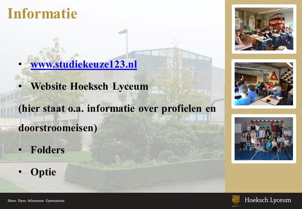 •Studieles •Voorlichtingslessen •Studieloopbaangesprekken Begeleiding