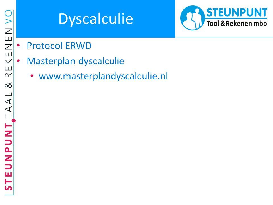 Dyscalculie • Protocol ERWD • Masterplan dyscalculie • www.masterplandyscalculie.nl