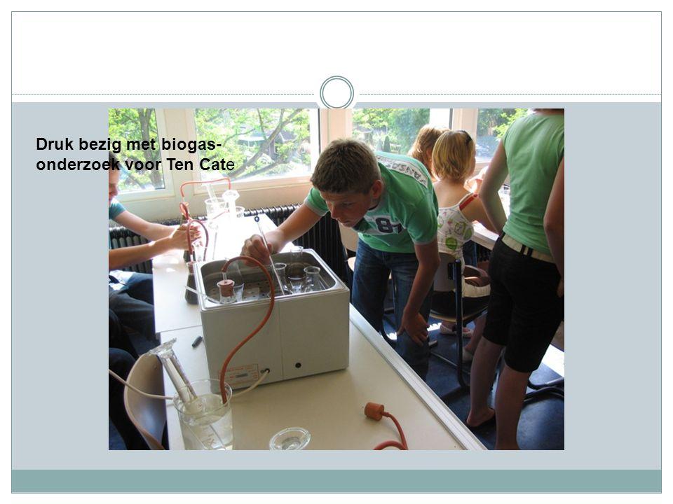 Druk bezig met biogas- onderzoek voor Ten Cate