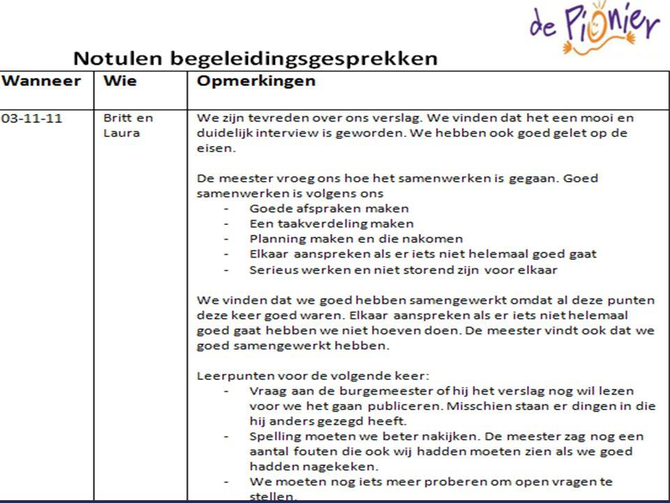• Artikel laten checken door: o Medeleerlingen (redactie) o Leerkracht (begeleidingsgesprek) • Reflectiegesprek • Verslag in het persbureau-dossier Checken