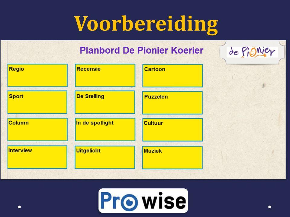 • Zelf verantwoordelijk voor resultaat • Zelf contact leggen o pionier8@live.nl