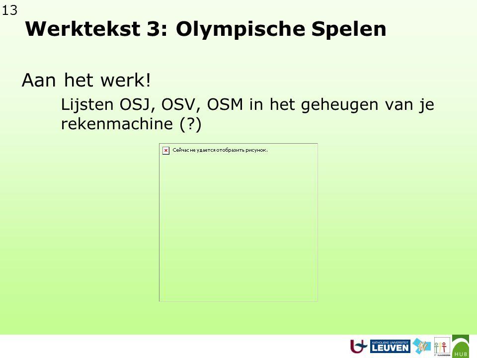 13 Werktekst 3: Olympische Spelen Aan het werk.