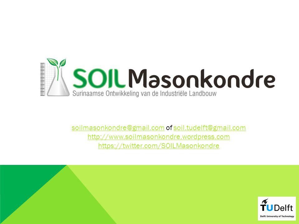 soilmasonkondre@gmail.comsoilmasonkondre@gmail.com of soil.tudelft@gmail.comsoil.tudelft@gmail.com http://www.soilmasonkondre.wordpress.com https://twitter.com/SOILMasonkondre