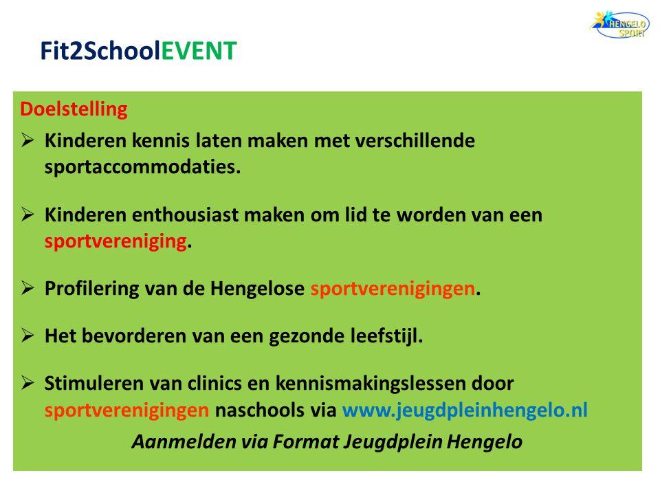 Doelstelling  Kinderen kennis laten maken met verschillende sportaccommodaties.