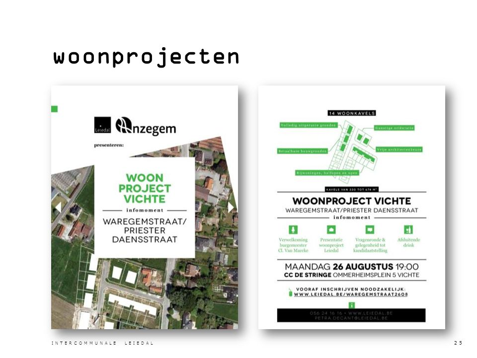 woonprojecten INTERCOMMUNALE LEIEDAL 25