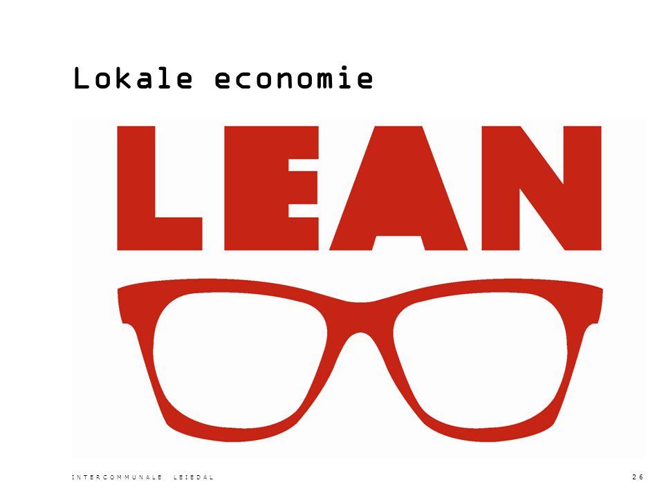 Lokale economie INTERCOMMUNALE LEIEDAL 26