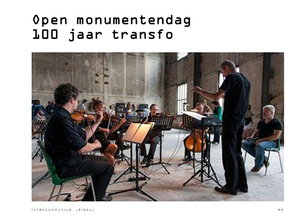 Open monumentendag 100 jaar transfo INTERCOMMUNALE LEIEDAL 44