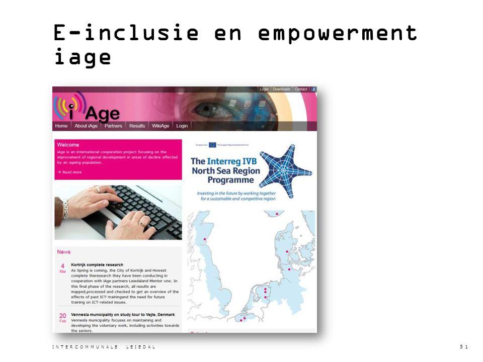 E-inclusie en empowerment iage INTERCOMMUNALE LEIEDAL 51