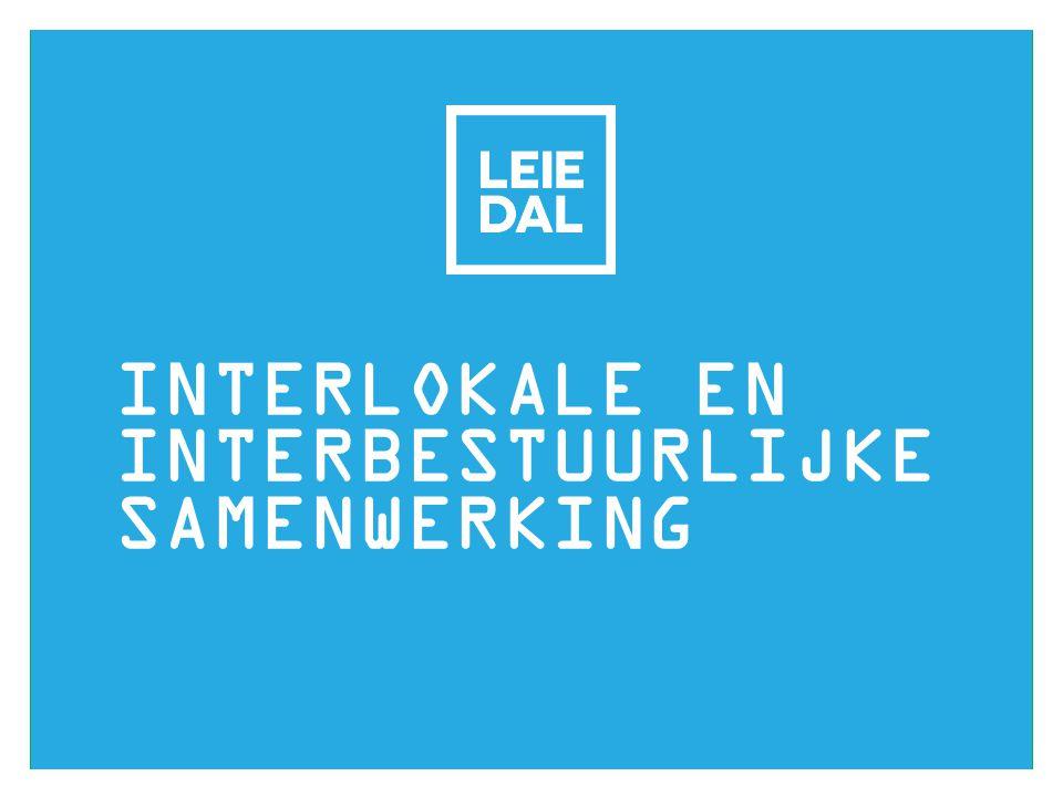 INTERLOKALE EN INTERBESTUURLIJKE SAMENWERKING