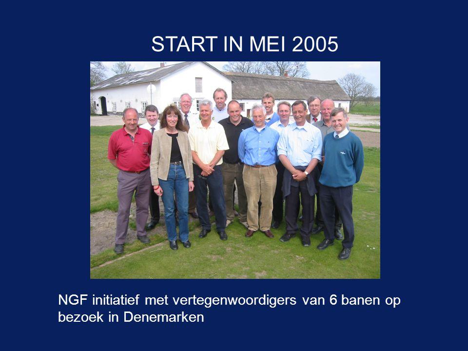 NGF initiatief met vertegenwoordigers van 6 banen op bezoek in Denemarken START IN MEI 2005