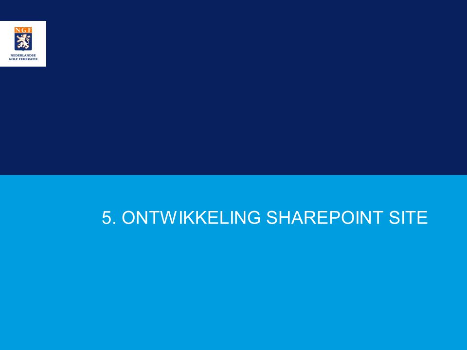 5. ONTWIKKELING SHAREPOINT SITE