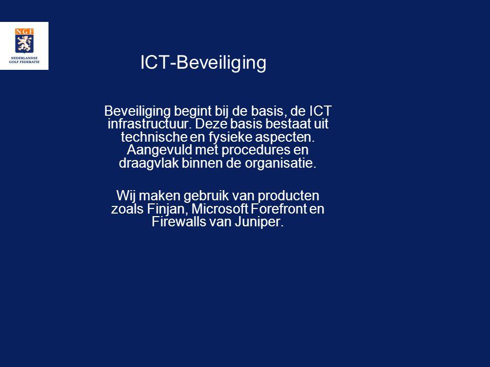 ICT-Beveiliging Beveiliging begint bij de basis, de ICT infrastructuur. Deze basis bestaat uit technische en fysieke aspecten. Aangevuld met procedure