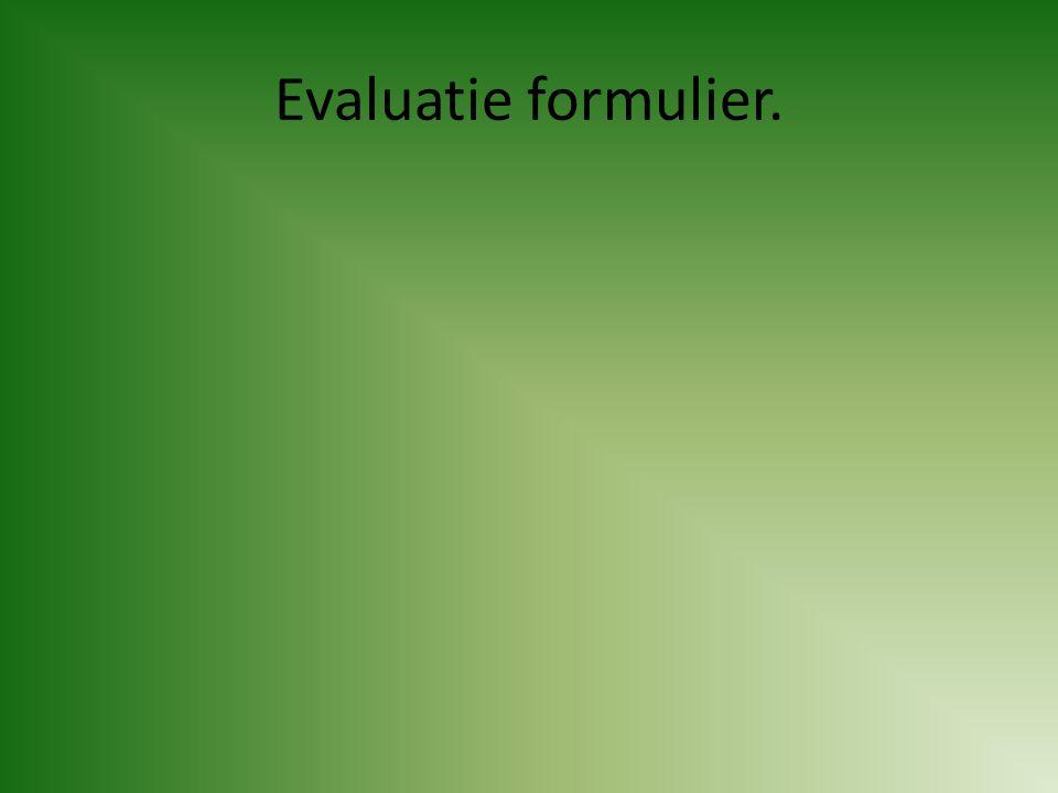 Evaluatie formulier.