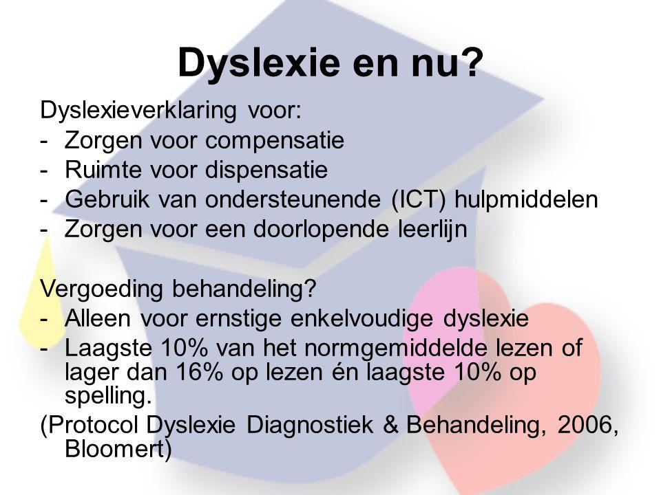 Dyslexie en nu.