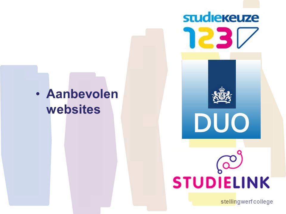 stellingwerf college •Aanbevolen websites