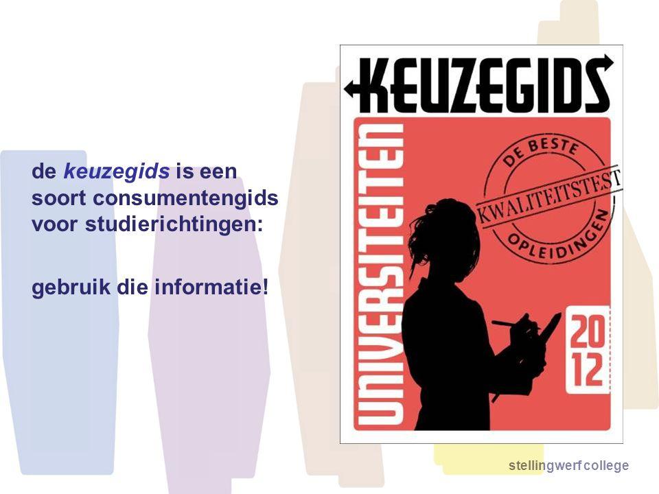de keuzegids is een soort consumentengids voor studierichtingen: gebruik die informatie!