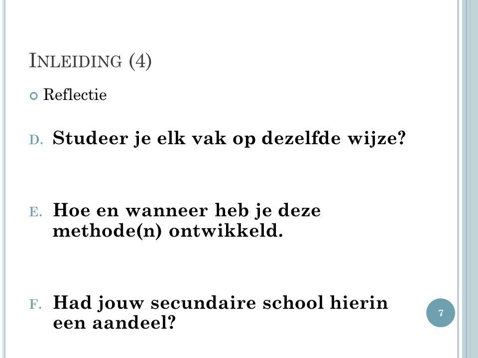 I MPLEMENTATIE (5) Initiatieven voor leerlingen  Klasniveau: tweede graad Breintrein 18