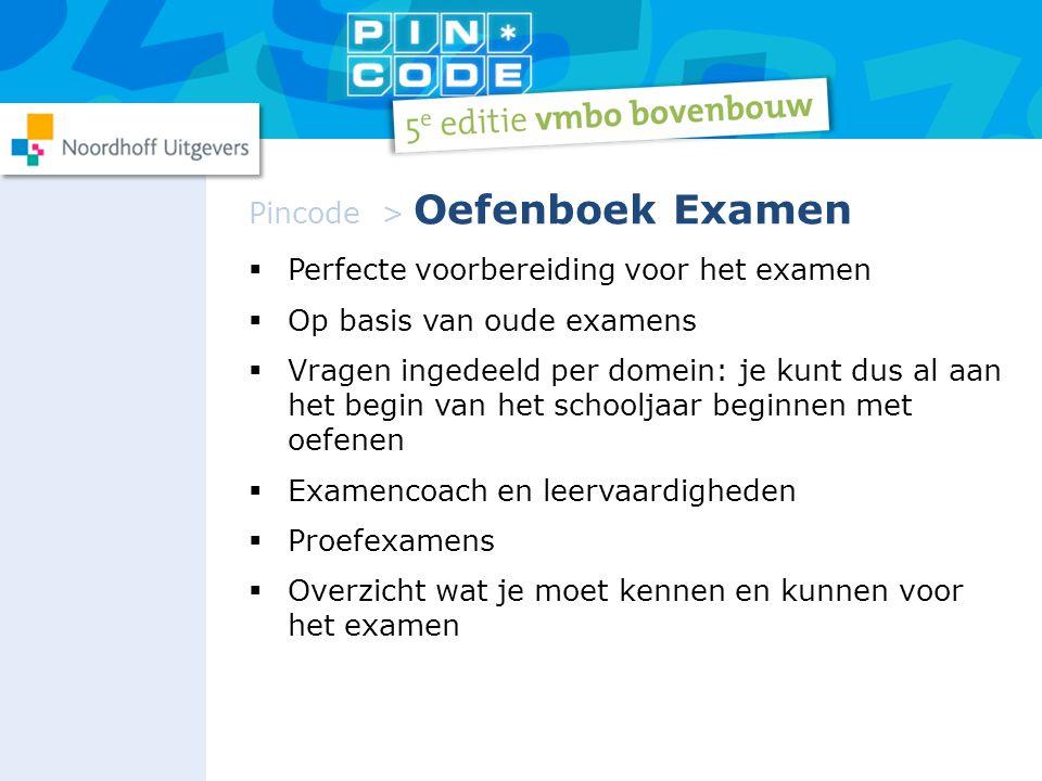  Perfecte voorbereiding voor het examen  Op basis van oude examens  Vragen ingedeeld per domein: je kunt dus al aan het begin van het schooljaar be