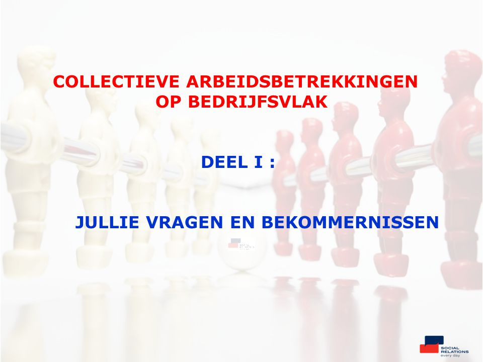 Vakbonden in België De vakbondsorganisaties Organisatie van de vakbonden •Zeer sterk netwerk met talloze andere sociale organisaties en met politieke partijen •Zij hebben GEEN wettelijke vorm : « feitelijke organisaties ».