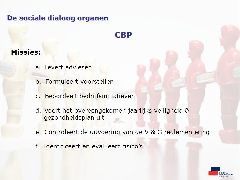 Missies: a.Levert adviesen b. Formuleert voorstellen c.