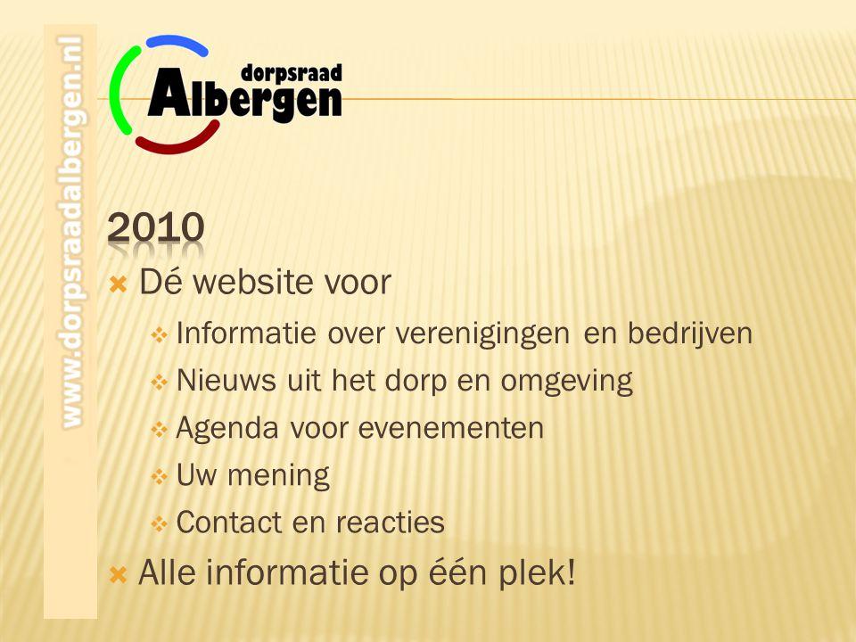  Alle informatie op één plek!  Contact en reacties  Uw mening  Agenda voor evenementen  Nieuws uit het dorp en omgeving  Informatie over verenig