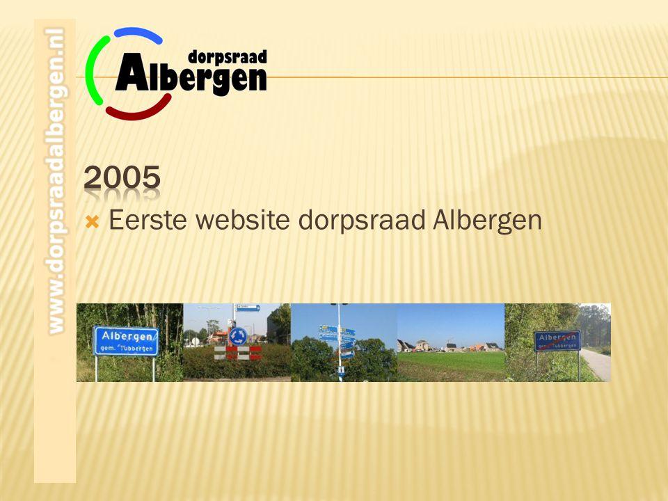  Eerste website dorpsraad Albergen