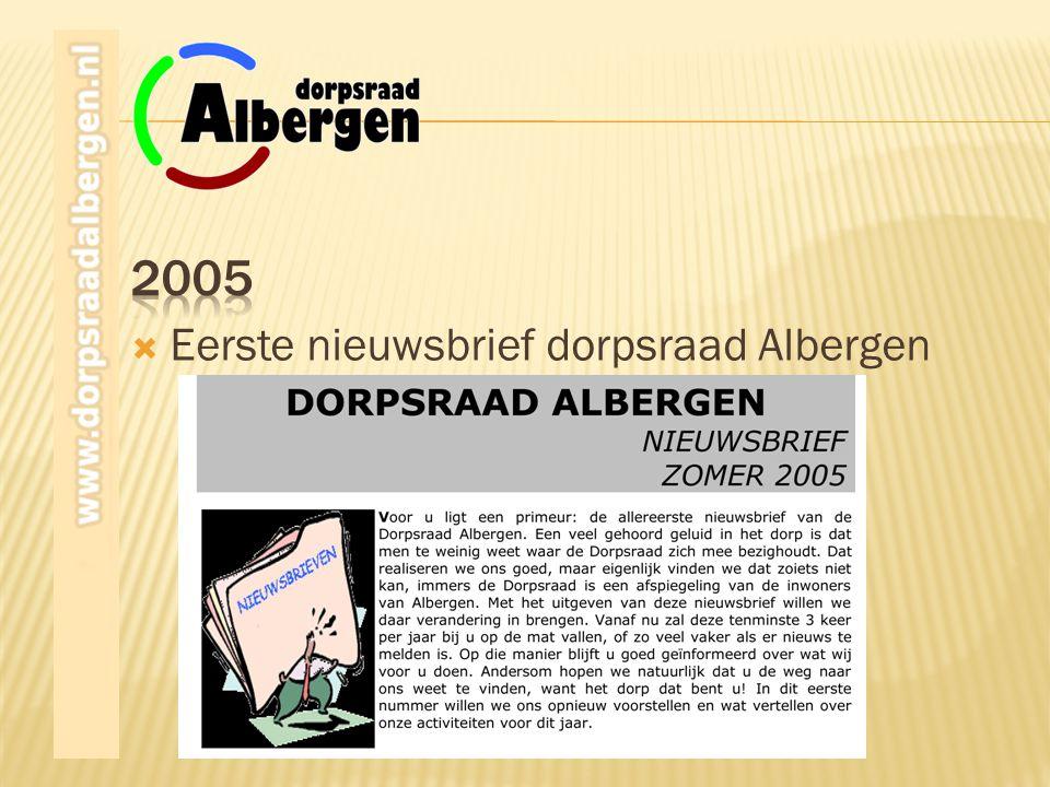  Eerste nieuwsbrief dorpsraad Albergen