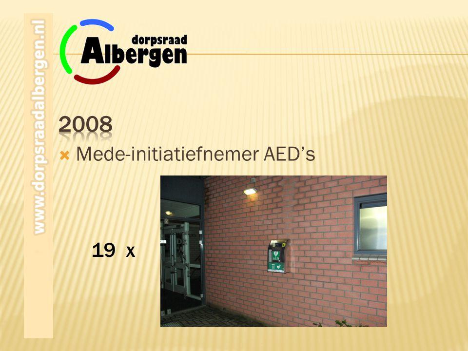 19 x  Mede-initiatiefnemer AED's
