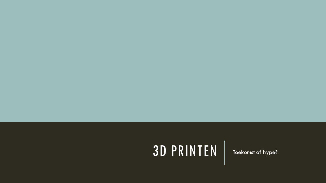 3D PRINTEN Toekomst of hype?