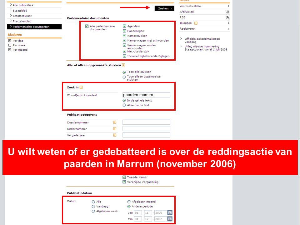 13 U wilt weten of er gedebatteerd is over de reddingsactie van paarden in Marrum (november 2006) paarden marrum