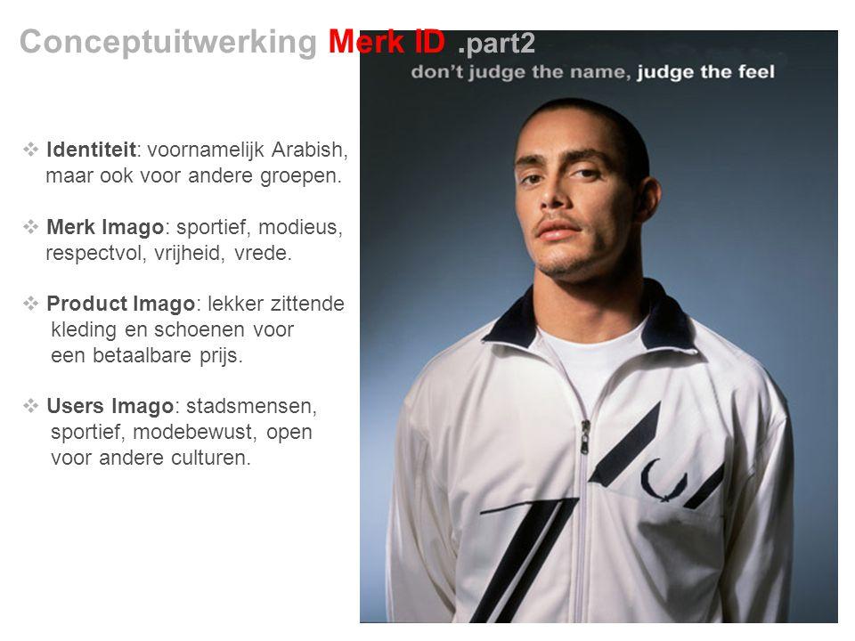 Conceptuitwerking Merk ID.part2  Identiteit: voornamelijk Arabish, maar ook voor andere groepen.