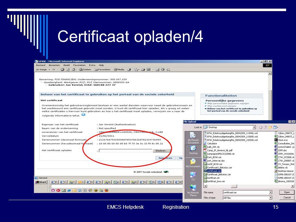 EMCS Helpdesk Registration15 Certificaat opladen/4