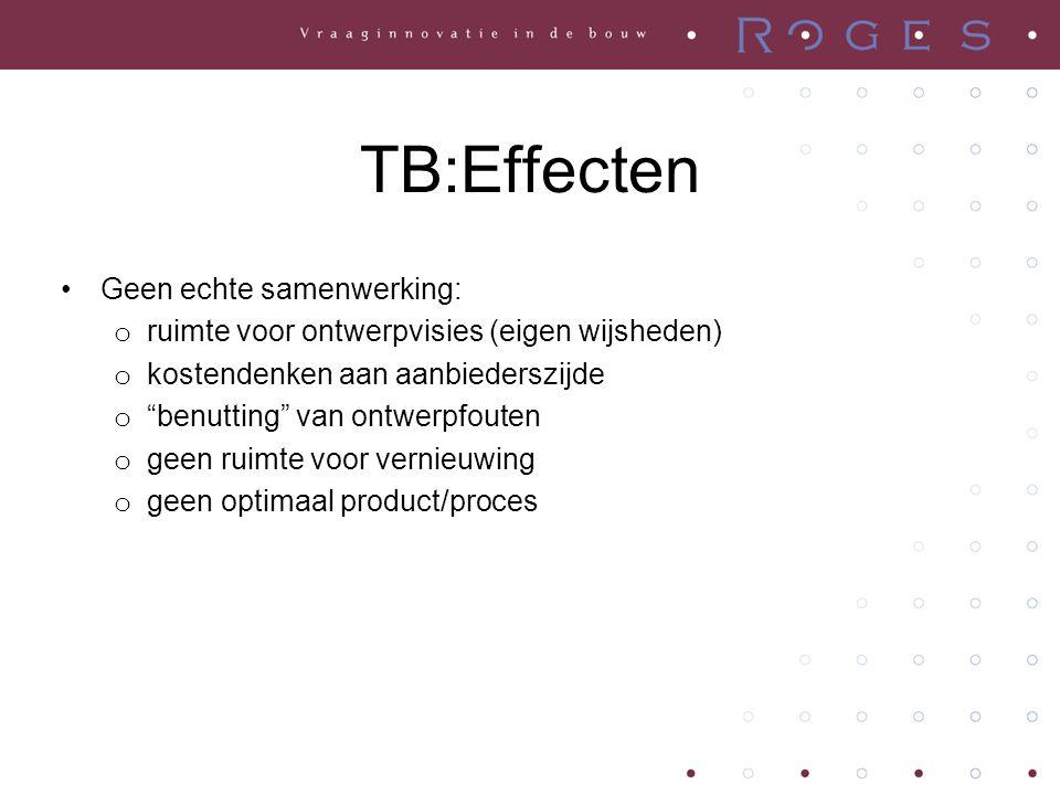 TB:Gevolgen •Veel onzekerheden/risico's en derhalve: het opentrekken van een blik beheersing en controle : o zware aanbestedingsprocedures (incl.